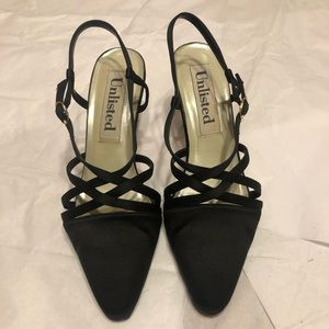 Unlisted leather criss cross heels vintage